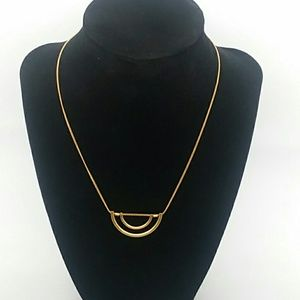 "Gold-Tone Necklace stamped ""M"""